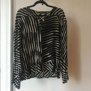 VINTAGE contrast dyed blouse